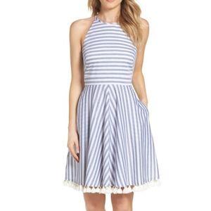 Eliza J Stripe Fit & Flare Dress, New